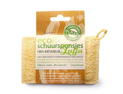 Eco-schuursponsjes LUFFA natuurlijke spons composteerbaar natuurlijk zerowaste 1